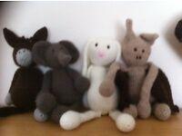 Crocheted animal Teddy's