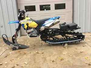 "137"" Timber sled on 2008 650 Husaberg"
