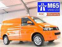 VW VOLKSWAGEN TRANSPORTER 140PS SWB T32 T5 ORANGE AIR CON 140BHP HIGHLINE WHEELS