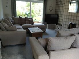 DFS Lois Corner and 3 seater sofa