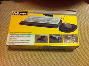 Fellowes keyboard and mouse tray