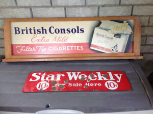 Antique advertising signs