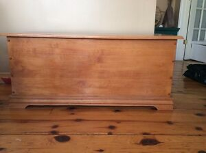 solid maple hope chest