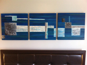 Peinture bleu abstrait
