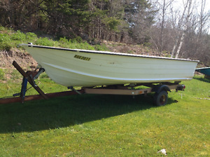 14-16 ft boat & 18 mercury motor