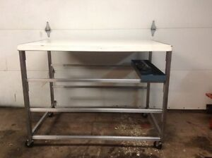 Stainless steel rolling work table