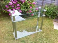 Modern Glass & Chrome TV stand or hall table