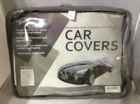 XL CAR COVER. BREATHABLE, WATER REPELLENT, DUSTPROOF.