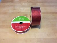 Jumbo Red Sparkly Wired Ribbon - Michaels