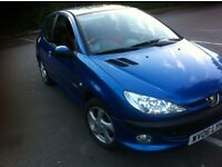 lovely Peugeot 206 semi automatic 1.6cc 2006 year mot and tax great 65 000 miles