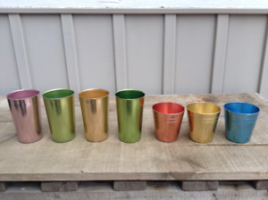 Collection of VINTAGE RETRO Aluminum Picnic Cups
