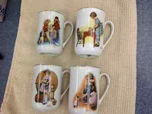 Four 1981 Norman Rockwell Mugs