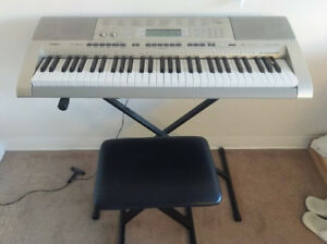 Casio Electronic Keyboard (Piano) with stand and stool