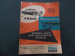 1955 Thunderbird & Ford (car) chassis parts accessories catalog