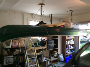 Green Fiber Glass Canoe