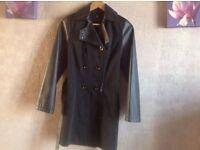 Atmosphere ladies coat black size: 8 used £5