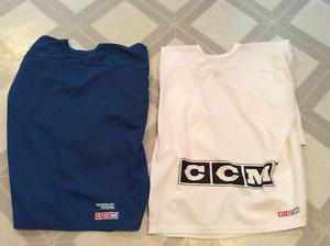 White Men's XL CCM Jersey and Blue Men's XL CCM Jersey