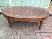 Antique Leather Surface Coffee Table