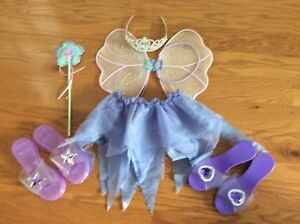 Fairy dress up outfit with two pairs of shoes
