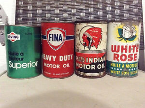 Cans, Tins, Bottles, Oil, Gas, Irving, Texaco