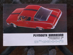 1965 Plymouth Barracuda Formula S dealer showroom catalog London Ontario image 1