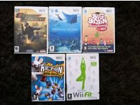 JOBLOT of 5 wii games all include instructions so like new