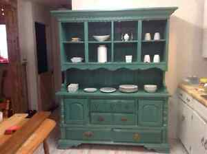 Beautiful rustic looking solid wood hutch