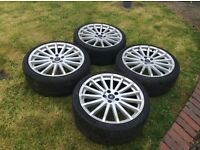 "FORD FOCUS 19"" RS WHEELS AND TYRES FOR SALE"