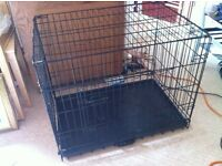 Big dog cage folds flat