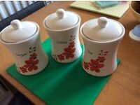 Coffee tea sugar set