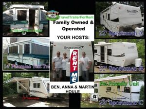 Roulottes a Louer Travel Trailers For Rent