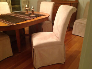 Micro fibre dining chairs set of 6
