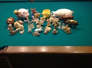 Collection of Pig Ornaments