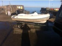 Boat trailer for 10-14ft boat rib
