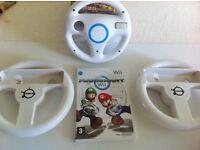 Mario kart with wheels nintendo wii game