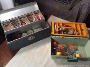 Two Fishing Tackle Boxes