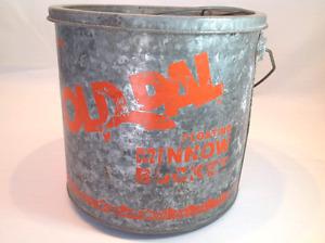 Vintage minnow pail