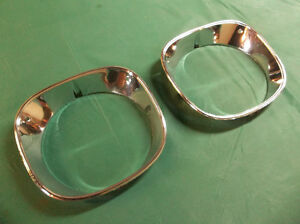 1970 Monte Carlo chrome head lamp bezels