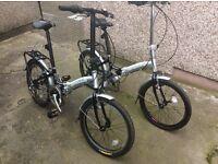 Aluminium folding bikes