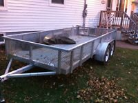 All aluminum utility trailer