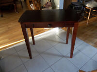 Wood table/ desk with one small drawer