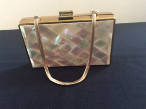 VINTAGE MOTHER OF PEARL COMPACT CASE (Mid-Century)