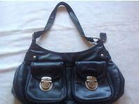 Ladies shoulder black shoulder bag leather used £2
