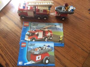 LEGO City. - Fire Truck with Pontoon boat - 7239