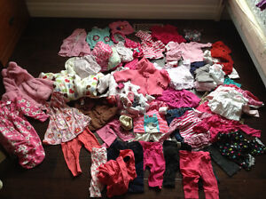 Lot girls 3 mos winter clothes