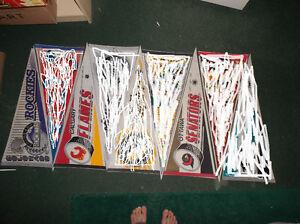 NHL Team pennants $3 EACH obo