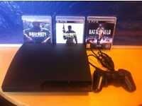 Sony Playstation PS3 Slim 160gb Console + Controller + 3 Games inc Battlefield 3 and COD - LUTON
