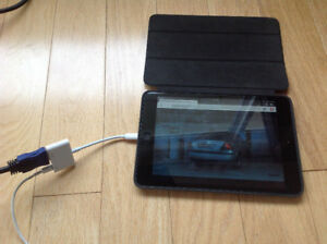 MINI IPAD or IPHONE to TV (ADAPTER).Watch IPAD MOVIES etc. on TV