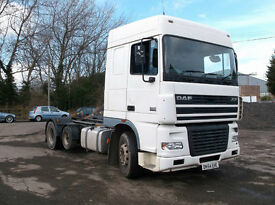 DAF TRUCK 95 XF 480 6X2 18FT CHASSIS DRAWBAR SPEC MANUAL GEARBOX