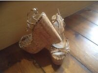 Brand New High Dune Wedge Sandals Size 4 /37